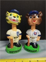 """Vintage Chicago And Detroit Bobble Heads. 7"""""""