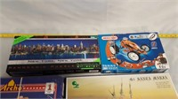 Assorted Puzzles And Building Games Ships, House,