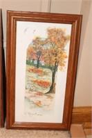 4 seasonal watercolors by D. Morgan 1997 & 1998