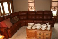 Large Leather Sectional w/ Recliners