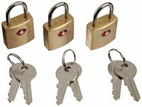 Lewis N. Clark Mini Brass Square TSA Lock +