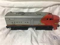 Lionel Train Engine #218 Plastic Top Sante Fe