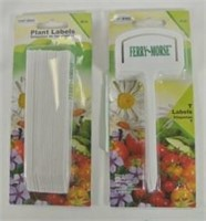 2 Packages of Plastic Plant Label Spikes