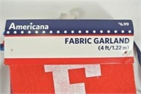 """Fabric Garland - Banner Style """"Freedom"""""""