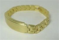 Men's Brushed Gold Tone Metal Bracelet