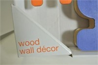 Children's Wooden Robot Wall Décor.