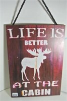Cottage Life Wall Plaque