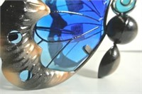 Glass & Metal Decorative Butterfly