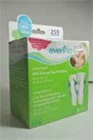 Evenflo Milk Storage Bag Adapter