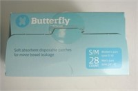 Attends Butterfly Pads 28 Count Size S/M