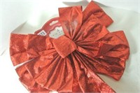 Glittering Red Holiday Bow