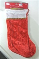 Red Stocking With Glitter Pen