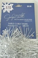 Jaclyn Smith Collection 10 ft Silver-tone Garland