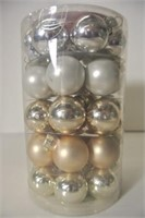 40 Miniature Glass Christmas Balls