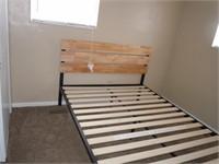 Queen Bed Frame, Mattress and comforter set