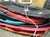 Large Amount of Snow Sleds