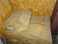 "Nine Bundles of #1 16"" Wood Shingles"