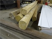 Seven Unused Landscape Timbers - 8 Foot Long Each