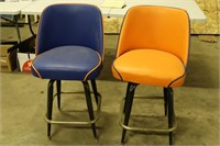 """Set of Two Bar Stools - 25"""" Tall at the Seat"""