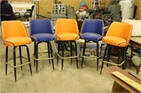 "Set of Five Bar Stools - 30"" Tall at the Seat"