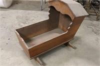 Antique Cradle - Solid Wood - 34x19x31T