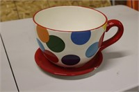 """Large Teacup Potter- Chipped Saucer - 10"""" Across"""