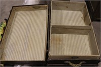 Antique Steamer Trunk with Inserts - 34x22x24T