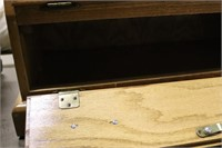 Lighted Solid Oak Gun Case with Key - 29x14 at