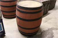 Vintage 1960's Wooden Barrel -31 X 22