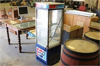 Vintage Pepsi Lighted Glass Cooler - Untested -