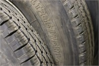 Five Tires on Rims - (4) LT245/75 R16 and (1)