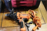 Black and Decker Hammer Drill w/ Extension Cord