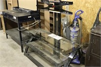 "Glass TV Stand with Mount - 50"" Wide"