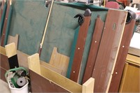Pool Table with Cues and Balls - Disassembled