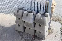Nine Concrete Foundation Blocks