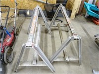 2 Large Metal Saw Horses