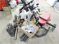 Assorted Gym/Workout Equipment - Rebar Pieces not