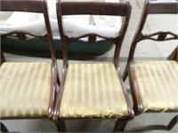 3 Vintage Wooden Kitchen Chairs