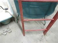 """Vintage Wooden Ladder - 56"""""""