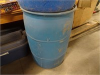 Two 55 Gallon Plastic Drums