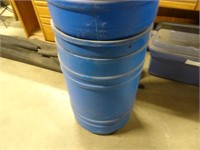 Two 30 Gallon Plastic Drums