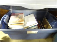 Medical Books in Plastic Tote W/Lid