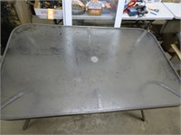 Glass Patio Table W/6 Chairs - 60 x 38 x 29H