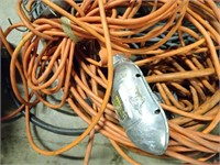 Assorted Workshop Lights and Extension Cords