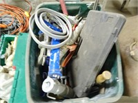 Two Plastic Totes of Hardware - Hand Tools -