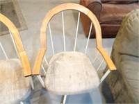 Set of Vintage Rolling Kitching Chairs