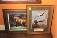 Eagle and Bear Framed Prints
