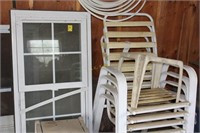 Window, Screen, Hoses, and Chairs