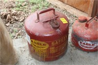 Two Metal Eagle Gasoline Cans