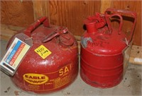 Two Metal Safety Gasoline Cans